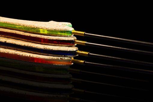 Зимняя удочка ручной работы Артуда Фокстрот Хард предпочтительна при ловле на приманки с весами, смещёнными в большую сторону диапазона.