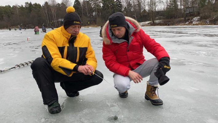 Испытания зимней удочки-балалайки Артуда в рамках турнира Мотыль Минус