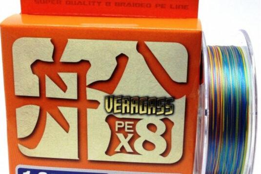 Восьмижильный шнур YGK Veragass PE x8 - изготовлен из тех же волокон, что и классический Jig Man X8, но на новом технологическом уровне.
